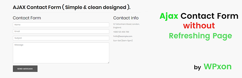 ajax contact form wordpress plugin